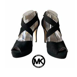 Michael Kors Elena Cross Strap Platform Heels